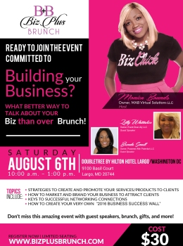 2016 August Biz Plus Brunch