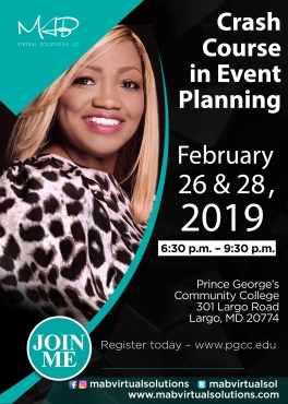 PGCC Crash Course In Event Planning Feb. 2019