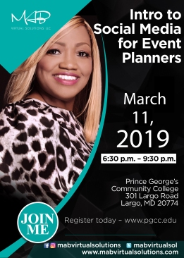 PGCC Intro to Social Media Event Planners 3.11.19