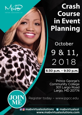 PGCC Crash Course In Event Planning October 2018