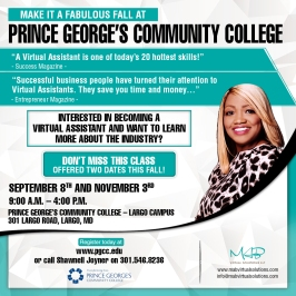 PGCC Fall VA Flyer