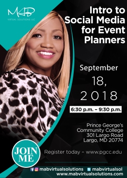 PGCC Intro to Social Media Event Planners 9.18.18