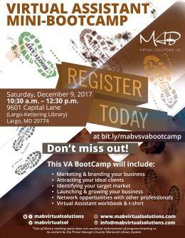 VA Bootcamp Flyer