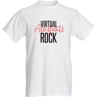 Virtual Assistant Rocks White Shirt